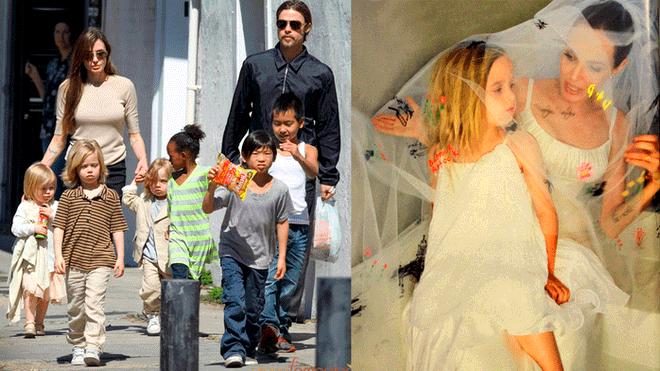 Brad Pitt Vivienne Marcheline Jolie Pitt Unrecognizable On