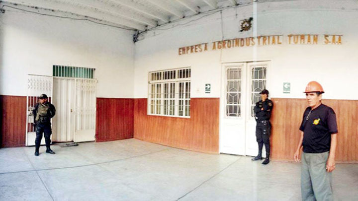 TUMÁN. Luego de intervención fiscal se habría comprobado que oficinas de azucarera funcionaban como centro de operaciones de organización criminal.