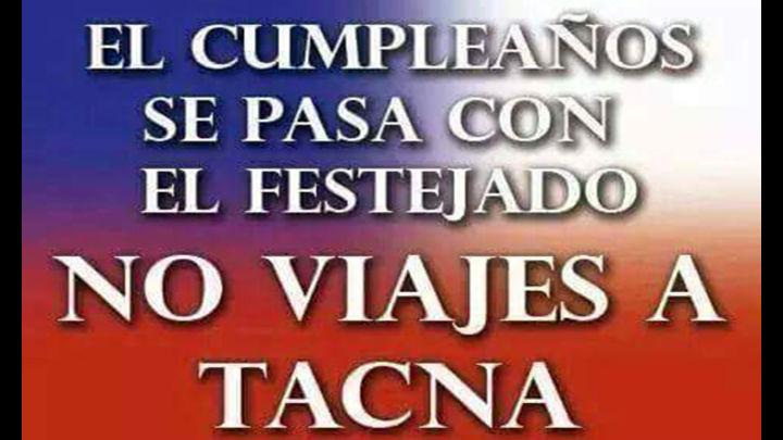 Con este mensaje buscan  evitar visitas a Tacna