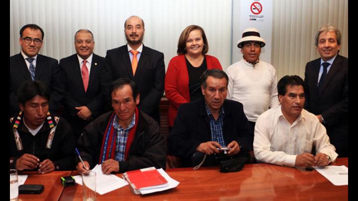 Las autoridades de Cotabambas llegaron a un acuerdo con los ministros