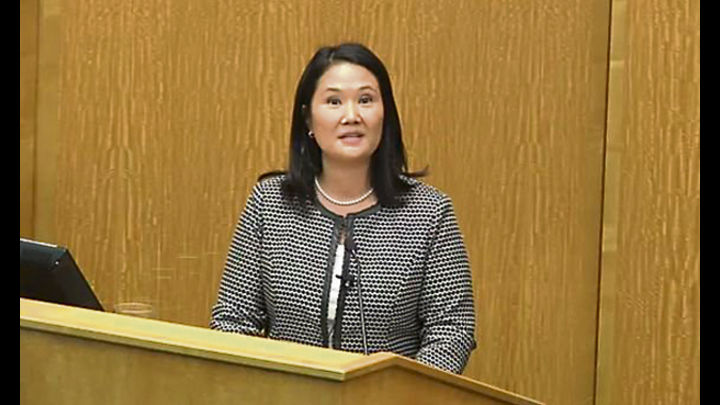 Harvard. Keiko Fujimori culpó a los médicos por las AQV