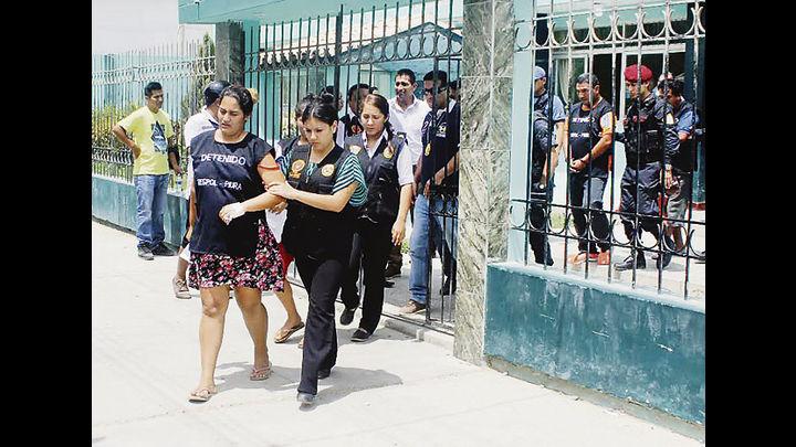 """Enferma. Una de las mujeres de la banda del """"Comandante Mela"""", había estado hospitalizada."""