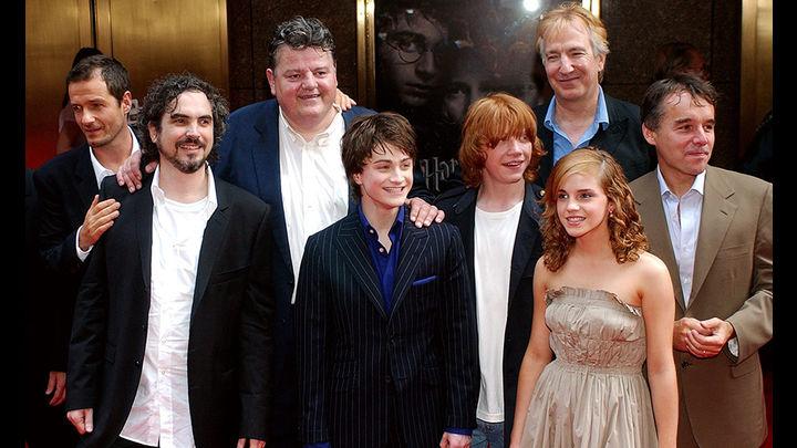 Alan Rickman y parte del elenco de 'Harry Potter'. Fotos: Agencias La República- Facebook Alan Rickman