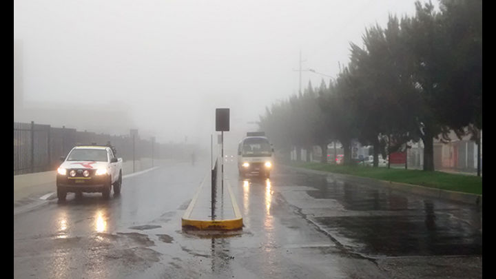 Lluvia y niebla en Arequipa