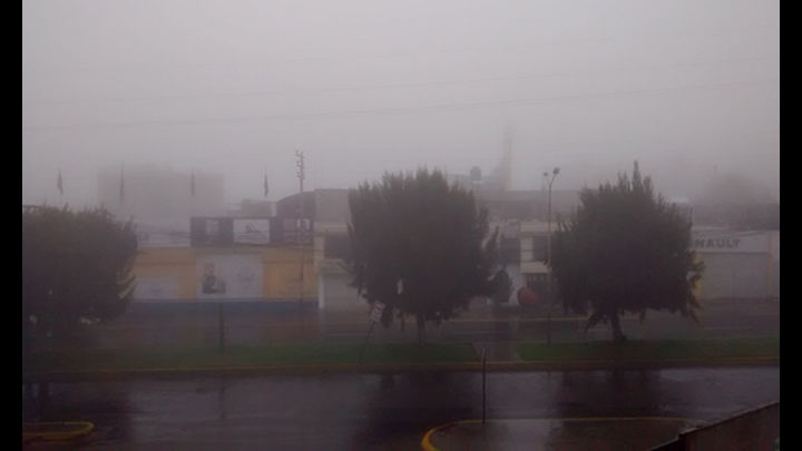 Neblina cubrió la ciudad por más de una hora