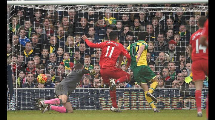 Firmino y Milner voltean el resultado, 4-3 para el Liverpool. Foto: AP