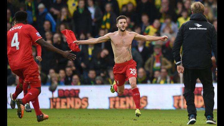 Adam Lallana hace el milagro 'Red', anota el gol del triunfo. Foto: AP