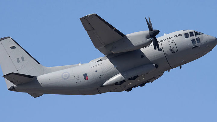 Avión de transporte C-27J Spartan de fabricación italiana operado por la FAP