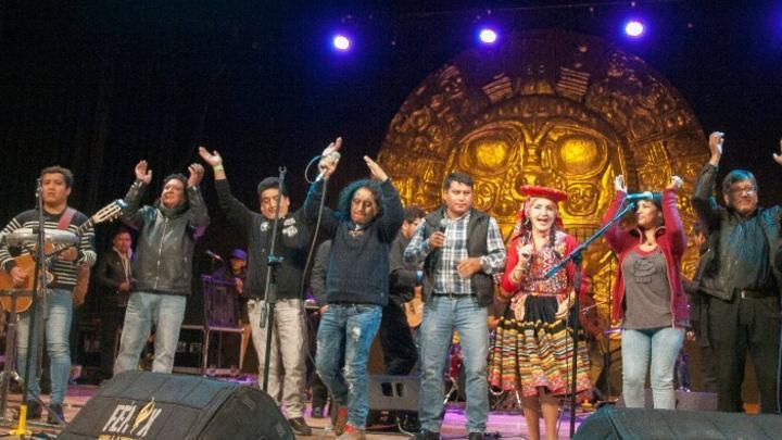 "Músicos unidos por ""Checo"". Foto: Jazmín Lezama Rivas."