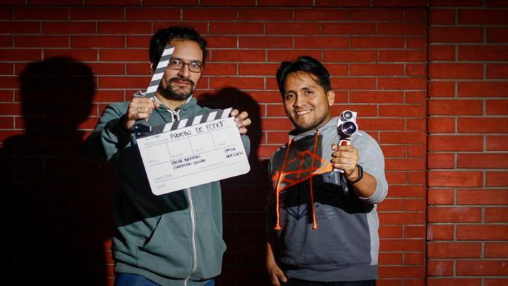 Óscar Bermeo y Christian Acuña, directores del documental. Fotografía: Hanslit Cruzado.