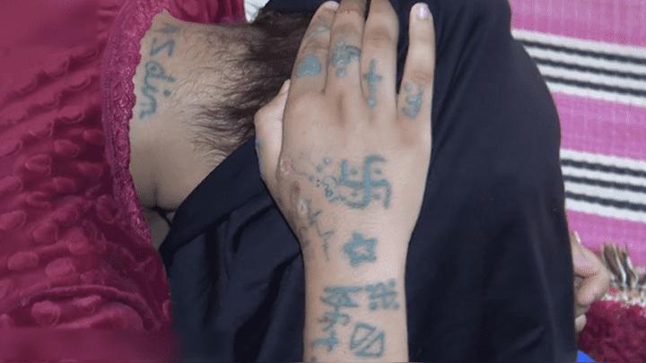 Durante su secuestro, la menor fue tatuada con pintura de pared.