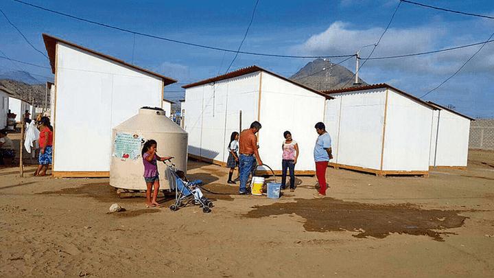 Desde agosto del 2017. La familias habitan casas prefabricadas que se supone iban a ser temporales. Algunos han retornado a sus zonas de origen.