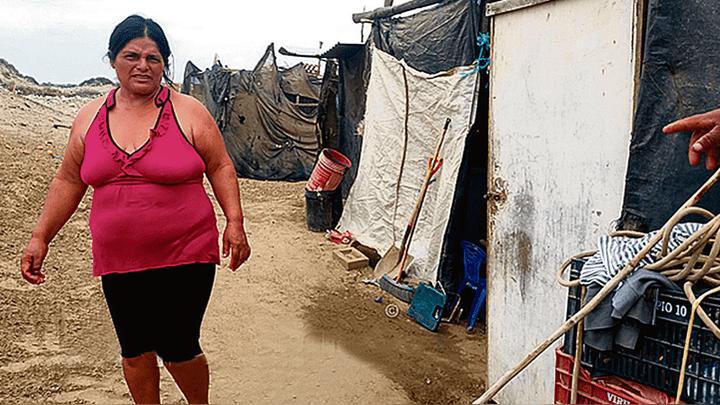 En Pacasmayo. La situación de las familias es dramática.