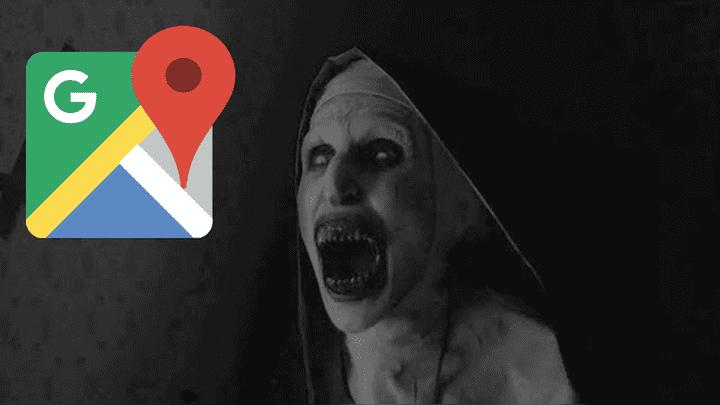Te asustarás mucho. Mientras utilizaba Google Maps, un joven se topó con 'La Monja' y las imágenes sorprendieron a miles de personas por ser demasiado extrañas. Foto: Captura.