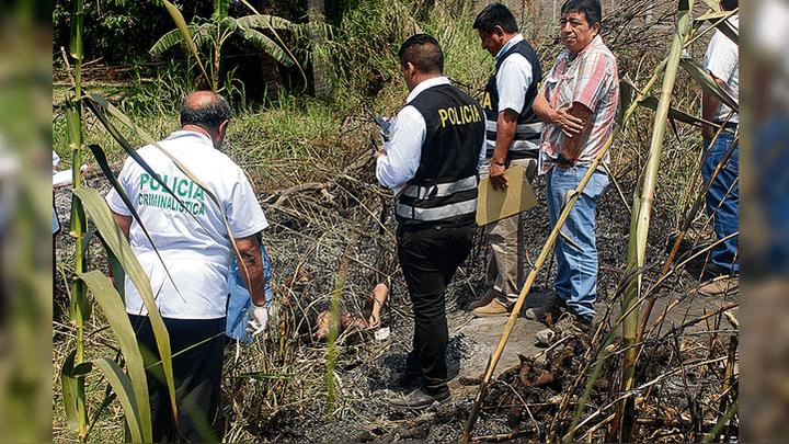 PNP. Cuerpo del joven calcinado fue identificado por familiares.