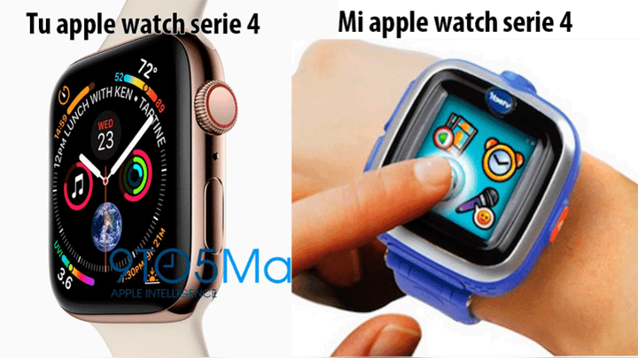 El Apple watch serie 4 tampoco se salvó de los memes. Foto: Facebook.