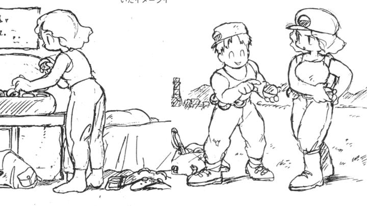 Primeros bocetos de pokemon