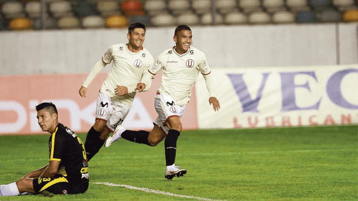Ovación. Siucho desató la alegría en las tribunas del Monumental tras anotar el primer gol del cuadro merengue que hizo respetar la casa.