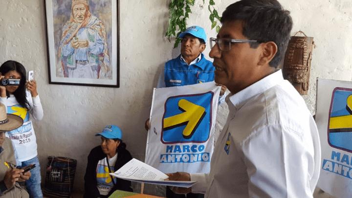 Marco Anco, candidato al distrito de Paucarpata por Juntos por el Desarrollo.