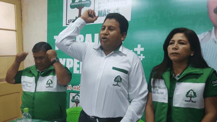 Cascely Calizaya, candidato al distrito de Mariano Melgar por Arequipa Renace.