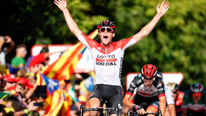 Jelle Wallays ganó la etapa 18 de la Vuelta a España. Se ubica en el puesto 146 de la clasificación general.