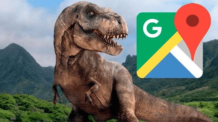 Mientras recorría las calles de Nueva York con Google Maps, un joven halló un dinosaurio y las fotos sorprendieron a miles de personas. ¿Las viste? Foto: Captura.