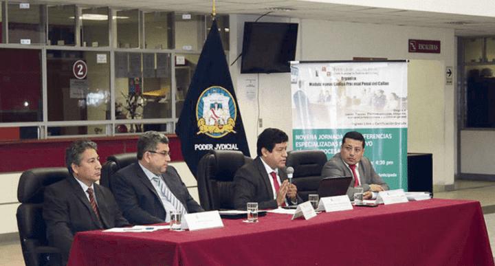 Conferencia. Galileo Mendoza en conferencia en la Corte del Callao con Walter Ríos.
