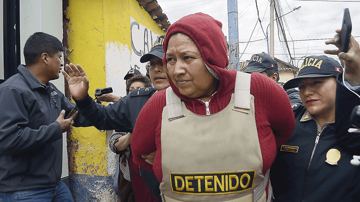 DETENIDA. Danyk Marianela Farfán Retto fue detenida en un hotel de Santiago, Cusco. Ella aceptó su responsabilidad.