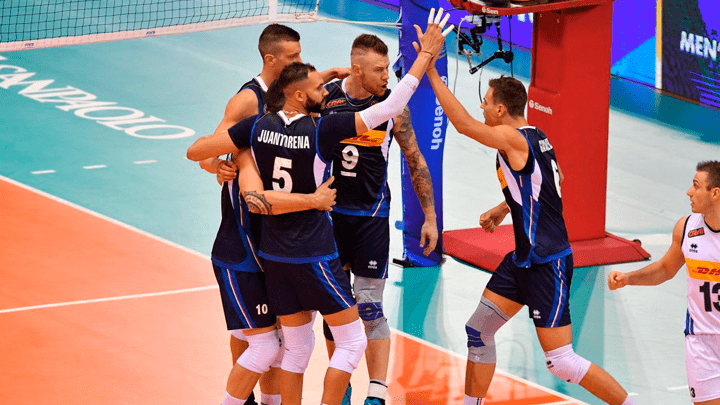 Italia ganó por 3 sets a 1 a Argentina en el Mundial de Vóley masculino.