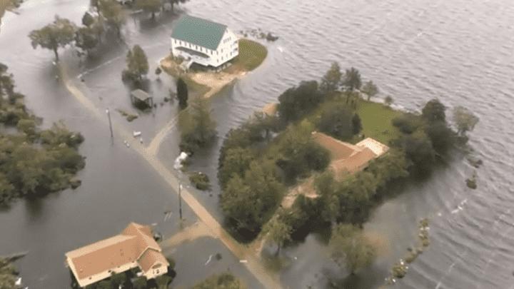 Carolina del Norte aún padece lluvias torrenciales ocasionadas por el paso del huracán Florence. Las inundaciones continúan.