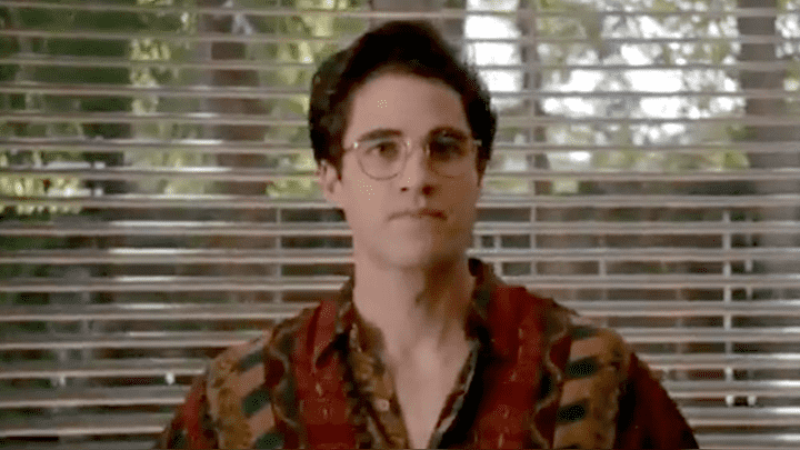 """Darren Criss personifica a Adrew Cunanan, el asesino de Gianni Versace. Miniserie: """"The Assassination of Gianni Versace: American Crime Story""""."""