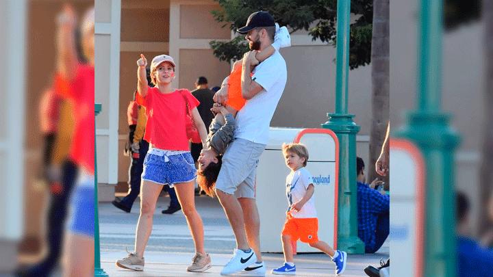 Gerard Piqué y sus hijos disfrutaron buenos momentos con la cantante. Foto: The Grosby Group