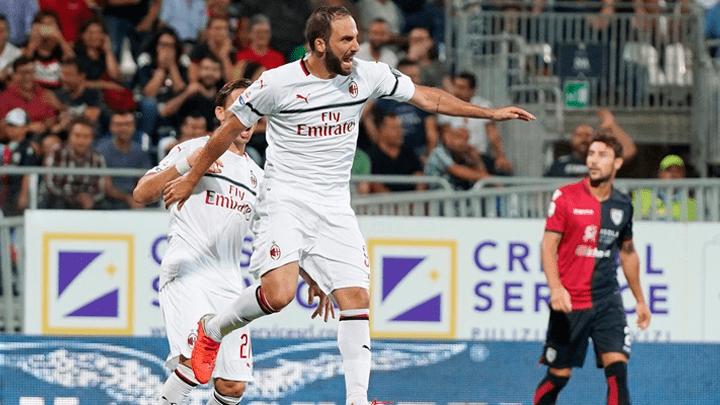 AC Milan empató 1-1 con Cagliari por la fecha 4 de la Serie A.