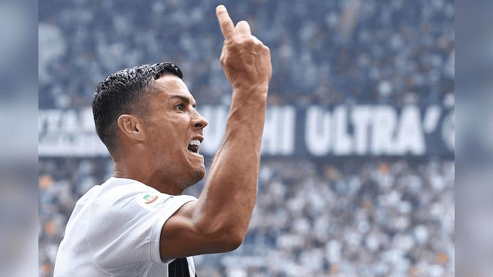 Cristiano Ronaldo anotó su primer doblete con la Juventus en Serie A.