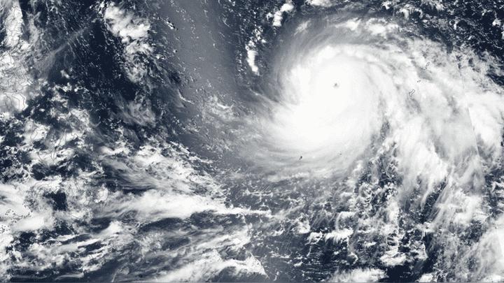 Imagen del tifón Mangkhut arribando a Filipinas.