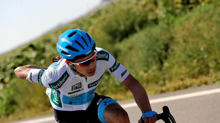 Miguel López quedó en tercer lugar de la Vuelta a España.
