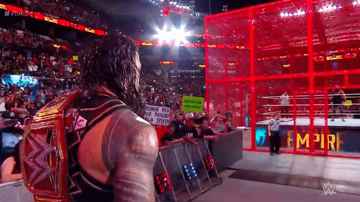WWE Hell in a Cell 2018: Roman Reigns retuvo su título tras aparición sorpresiva de Brock Lesnar   RESUMEN   VIDEO   RESULTADO