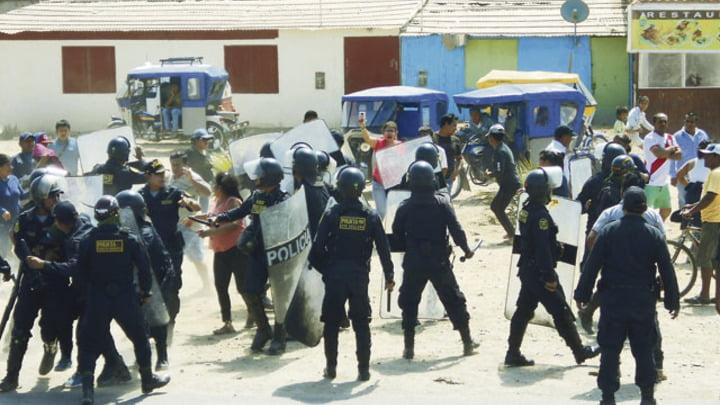 Conflicto. Hace poco hubo enfrentamientos con la Policía.