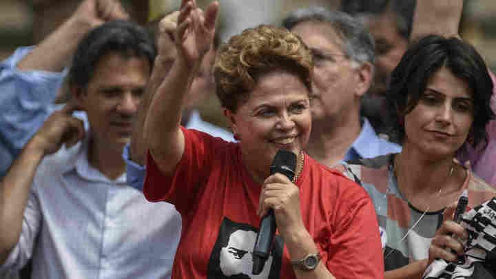 Pese a que las encuestas la situaban adelante, Dilma Roussef no alcanzó el Senado por Minas Gerais.