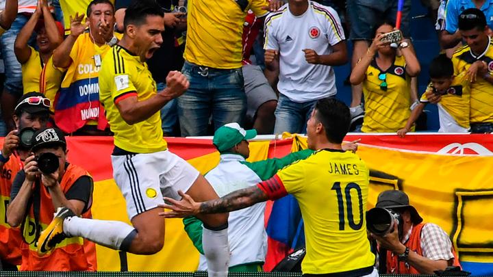 Colombia venció 4-2 a Estados Unidos en partido internacional Fecha FIFA 2018 en el Estadio ...