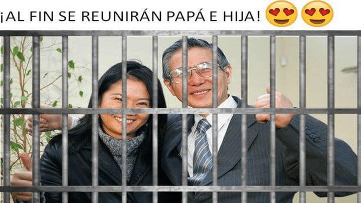 Desde que se conoció que Keiko Fujimori ha sido detenida por la Fiscalía, en Facebookse comenzaron a viralizar crueles memes que se burlan de la lideresa de Fuerza Popular. Aquí los mejores. Foto: Captura.