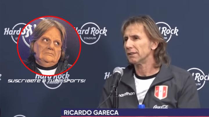 Ricardo Gareca intentó poner paños fríos al incómodo momento que vivió en la conferencia, y ahora será parodiado por JB.