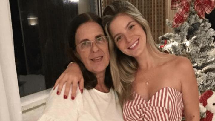 Thaísa Leal y su madre