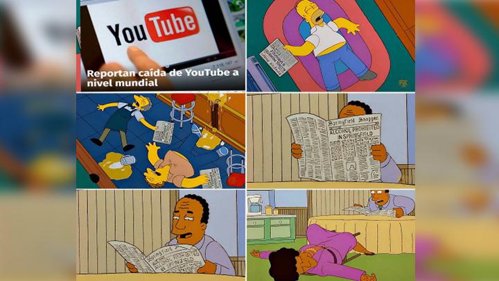 El sitio más grande de videos en internet se cayó a nivel mundial y en redes sociales no tardaron los memes. Foto: Difusión