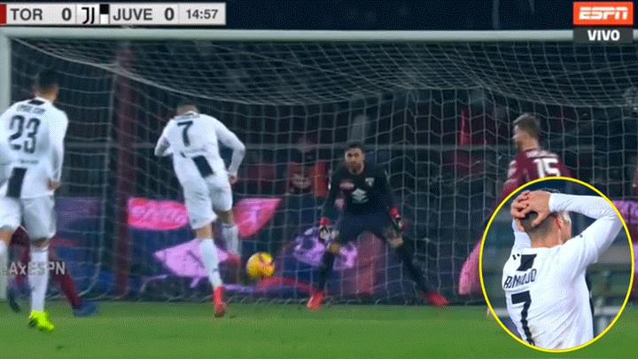 Youtube  Juventus vs Torino EN VIVO ONLINE  VIDEO Cristiano Ronaldo se  falló un increíble GOL por Serie A 2018 vía ESPN  7ebe8296c10f1